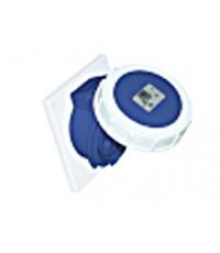 เต้ารับแบบฝังทรงเฉียง ชนิดกันน้ำ (Flange H97 x W80 mm.) Flanged Sockets Sloping-HACO-4132-6V