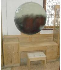 โต๊ะเครื่องแป้งไม้สักเก่าโบราณ