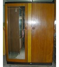 ตู้เสื้อผ้าไม้สักทอง 2 ประตู
