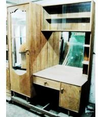 โต๊ะเครื่องแป้งไม้สักทองพร้อมตู้เสื้อผ้า