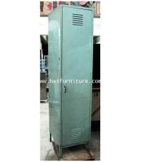 ตู้ล๊อกเกอร์ในเสื้อผ้าเหล็กประตูเดี่ยว สีฟ้า