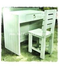 ชุดโต๊ะทำงานไม้ และเก้าอี้