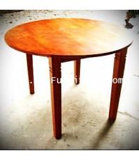 โต๊ะกลมไม้ ถอดได้
