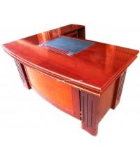 โต๊ะทำงานผู้บริหาร รูปตัว L ไม้