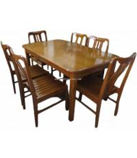 ชุดโต๊ะรับประทานอาหาร 6 ที่นั่ง ไม้