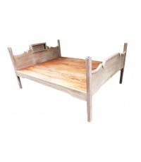 เตียงสักไม้โบราณ ยุคโคโลเนียล
