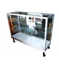 ตู้โชว์ ตู้กระจกแสดงสินค้า ขอบอลูมิเนียม 4 ฟุต ชั้นปรับ 41.5*123*100.5 ซม.