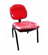 เก้าอี้สำนักงาน 4 ขา สีแดง