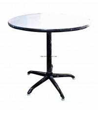 โต๊ะคาเฟ่กลม หน้าฟอเมก้า สีขาว ตรา Elegant