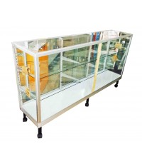 ตู้โชว์ ตู้กระจกแสดงสินค้า ขอบอลูมิเนียม 6 ฟุต ชั้นปรับ 182*42.5*101.5 cm