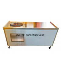 เคาท์เตอร์ขายอาหาร มีหลุมใส่หม้อ 17 นิ้ว 150*60*83 ซม.