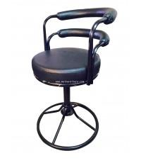 เก้าอี้บาร์เตี้ย มีพนักพิง เบาะหนัง BC163S ตรา Elegant