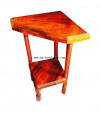 โต๊ะเข้ามุม ไม้มะค่า