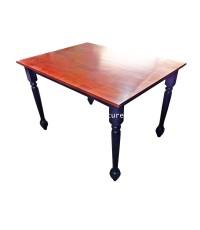 โต๊ะรับประทานอาหารไม้ยาง ขากลึง 122*91*81 ซม.