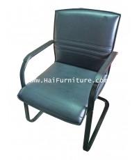 เก้าอี้สำนักงาน รับรอง ขาตัวยู หุ้มหนังสีดำ รุ่่น II