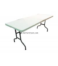 โต๊ะพับพลาสติก มีหูหิ้ว 183*74*76 ซม.