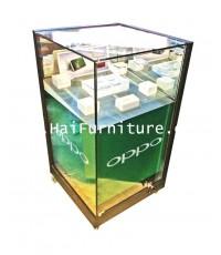 ตู้กระจกขายสินค้า ทรงสี่เหลียมจตุรัส 60*60*109 ซม.