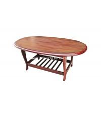 โต๊ะไม้รับแขก วงรี 106*60*43 cm