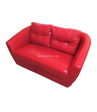 โซฟา 2 ที่นัั่ง หนังสีแดง MAX 150*80*86 cm