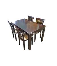 ชุดโต๊ะรับประทานอาหารสำหรับ 4 ที่นั่ง 135*80*75 ซม.
