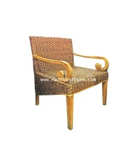 เก้าอี้โครงไม้สัก ผักตบชวา 65*61*85 ซม.