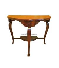 โต๊ะ ครึ่งวงกลม ไม้สัก สไตล์ยุโรป ปี 1960 100*50*79 ซม.
