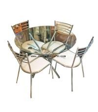 ชุดโต๊ะรับประทานอาหารกลมสำหรับ 4 ที่นั่ง 100*100*75 ซม.