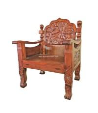 เก้าอี้รับแขกไม้มะค่า แกะสลัก ปี 1970