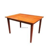 โต๊ะอาหารหน้าไม้ 122*97.5*77 ซม.