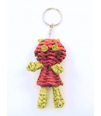 Recycle paper bear keychain
