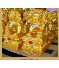 สิงห์ทอง สูง 28 ซม. ( คู่ละ  ไม่รวมค่าจัดส่ง)