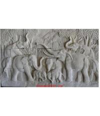 ช้าง 9 เชือก (04) 90x165 ซม.