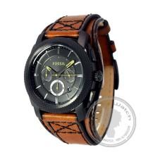 นาฬิกาข้อมือ Fossil FS4616 Men Desert Sand Chronograph Double Padded Black Dial Watch