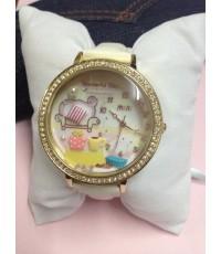 นาฬิกา Mini นาฬิกาข้อมือแบรนด์เกาหลีของแท้ รุ่น MNS907B Teatime (White)