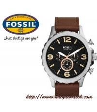 นาฬิกา Fossil รุ่น JR1475 Nate Chronograph Leather Watch - Brown สินค้าใหม่ ของแท้ พร้อมใบรับประกัน