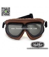 Custom Sunglasses *  Mark 3 หนังน้ำตาล เลนส์ สโมค