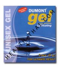 Dumont Gel ดูมองต์ เจล - ครีมหล่อลื่น สูตรน้ำ แบบซอง สะดวกสำหรับพกพา - 1 โหล