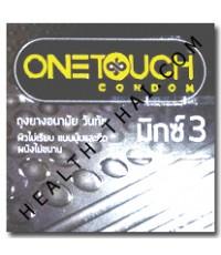 One Touch Mixx 3 ถุงยางอนามัย วันทัช มิกซ์ 3 - ถุงยาง ปุ่ม+วงแหวน 52 มม. - 1 กล่อง (โฉมใหม่)