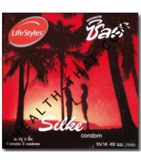 Silke ถุงยางอนามัย ซิลค์ - ถุงยาง ผิวเรียบ 49 มม. - 1 กล่อง (โฉมใหม่)