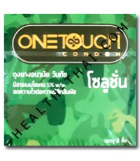 One Touch Solution ถุงยางอนามัย วันทัช โซลูชั่น - ถุงยาง มียาชาชะลอการหลั่ง 52 มม. - 1 โหล
