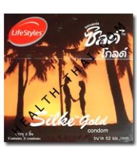 Silke Gold ถุงยางอนามัย ซิลค์ โกลด์ - ถุงยาง ผิวเรียบ 52 มม. - 1 กล่อง