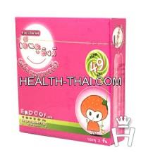 Endoo Pink 49 ถุงยางอนามัย เอ็นดู พิงค์ 49 - ถุงยาง สตรอเบอรี่ 49 มม. - 1 กล่อง