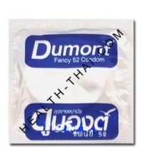 Dumont Fancy ถุงยางอนามัย ดูมองต์ แฟนซี - ถุงยาง มีปุ่ม+วงแหวน 52 มม. - 100 ชิ้น (โฉมใหม่)