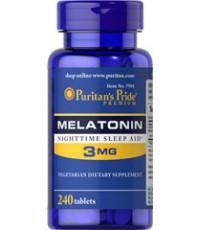 Puritan\'s Pride Melatonin 3 mg. ขนาดสุดคุ้ม 240 เม็ด ทานได้ 8 เดือน **ของล็อตเดือนนี้เหลือน้อยแล้วค