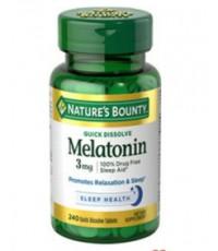 Nature\'s Bounty Melatonin สูตรใหม่ Quick Dissolve  ขนาด 240 เม็ด****ของล็อตเดือนนี้เหลือน้อยแล้วค่ะ