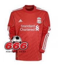 เสื้อทีมลิเวอร์พูลเหย้า(แขนยาว) Liverpool Home ฤดูกาล 2010-2011