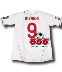 9 Inzaghi+ full Calcio patch เสื้อบอล เสื้อฟุตบอล ทีมเอซีมิลาน เยือน AC Milan Away ฤดูกาล 2011-2