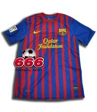 เสื้อบอล เสื้อฟุตบอล ทีม บาเซโลน่า เหย้า Bacelona home ฤดูกาล 2011-2012 เสื้อเปล่า