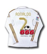 7 Ronaldo เสื้อบอล เสื้อฟุตบอล ทีม เรอัลมาดริด เหย้า แขนยาว real madrid home LS 2011 2012