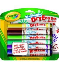 Crayola สีเมจิกเขียนไวท์บอร์ด 12 สีแบบล้างออกได้ รุ่น 98-5812